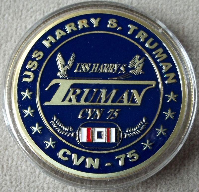 Navy USS Harry S. Truman CVN 75 Challenge Coin