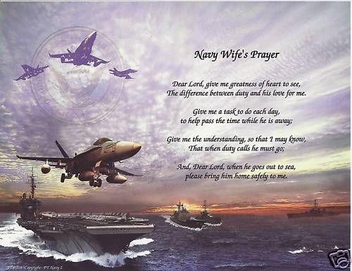 NAVY WIFE Poem Prayer Personalized Name Military Print
