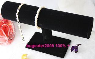 Black Velvet T Bar Bracelet Watch Jewel Display Stand