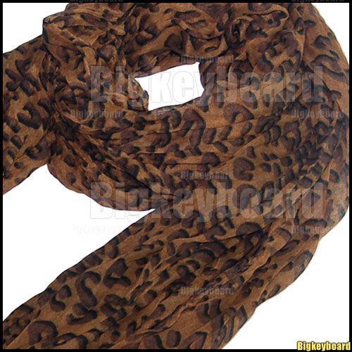 Celebrity Hot Large Animal Leopard Print Shawl Scarf Long Stole