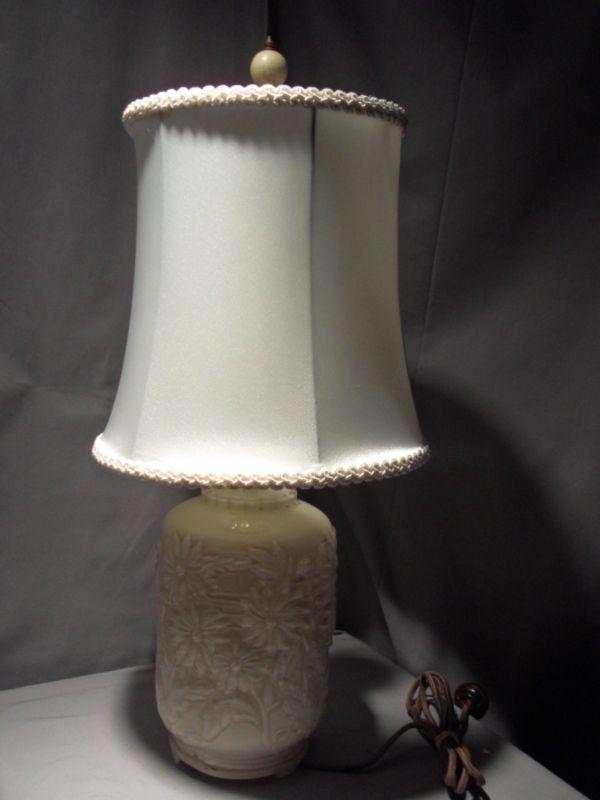 Vintage Depression Era Reversed Painted Glass Lamp